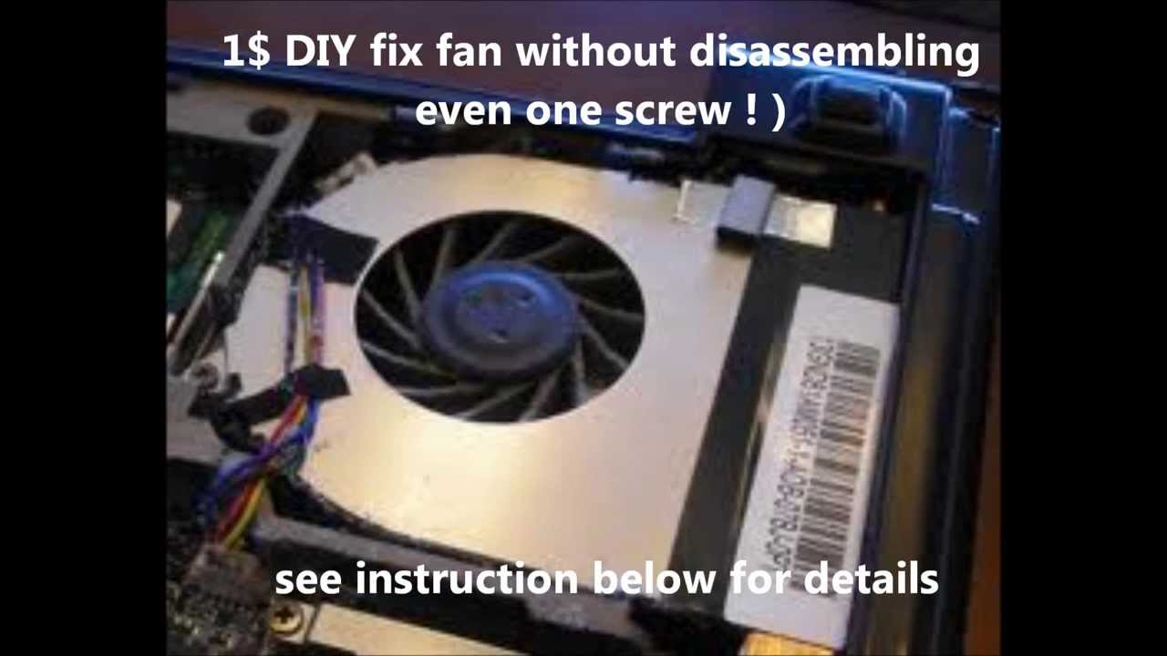 Lenovo thinkpad Fan Noise fix 1$ DIY no disasemblly needed