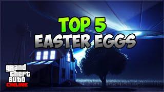 GTA 5 Online: TOP 5 EASTER EGGS | Ufo, Mörder,Schneemann & Mehr !