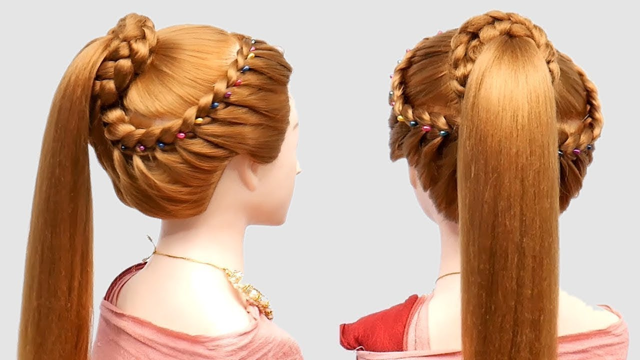 beautiful bun hairstyle for girls | BRIDAL HAIRSTYLES | Hair Style Girl || hairstyles 2019