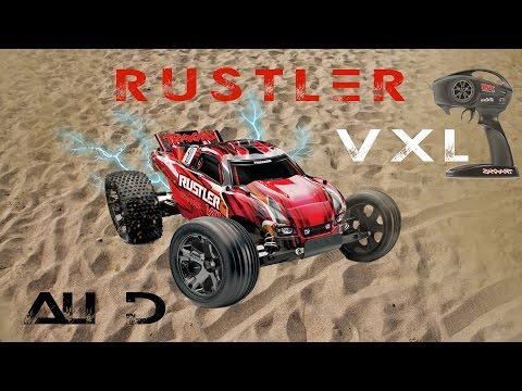 RC/Car-Rustler VXL Traxxas سيارة شحن كنترول قويه