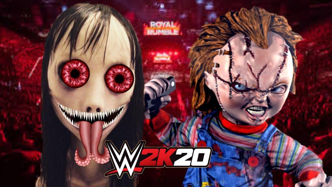 momo vs chucky wwe 2k18 gameplay youtube