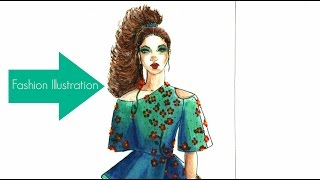 Fashion Illustration: Watercolor Haute Couture
