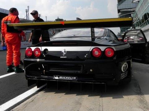 Ferrari 575 Gtc Gt1 Sound Start Revs Acceleration Fast Fly