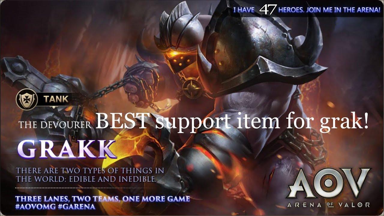 Garena AOV - Arena Of Valor Grak best support item