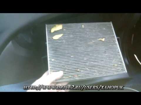 Как заменить салонный фильтр в Hyundai Elantra HD cabin filter replacement.