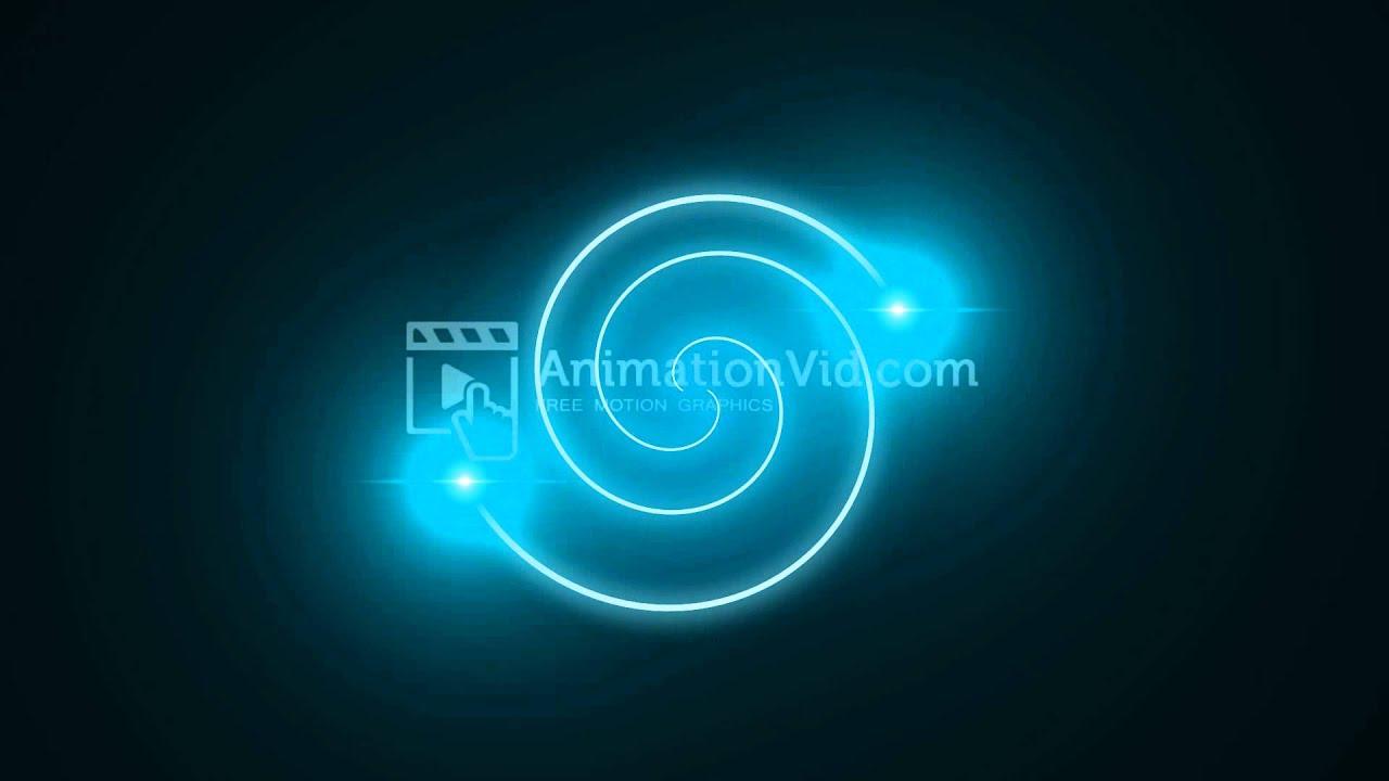 Blue Light Spiral Creation Motion Wallpaper Youtube