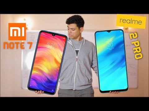 تستنى شاومي  نوت 7  ولا تشتري ريلمي 2 برو ؟ | Xiaomi Redmi note 7 VS Realme 2 PRO