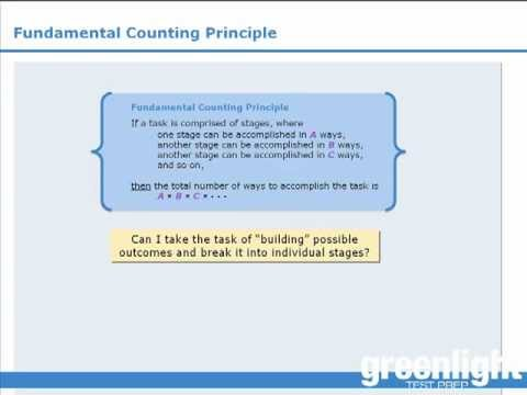 3 Gre Lesson Fundamental Counting Principle  Youtube