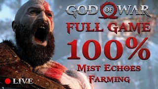 GOD OF WAR 4 (2018) | 100% Completition #6 (Mist Echoes Farming)