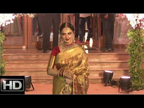 Rekha Attends Wedding Reception Of Stylist Shaina Nath Daughter Of Mr. Rakesh Nath