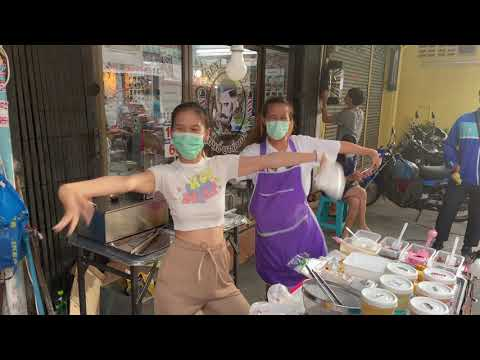 Dancing Fry Girls | Street Food | Bangkok Thailand