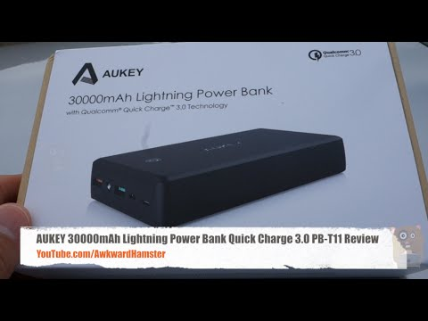 aukey 30000mah lightning power bank quick charge 3 0 pb. Black Bedroom Furniture Sets. Home Design Ideas