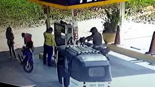 No uses aparatos eléctronicos ni celulares en una gasolinera.