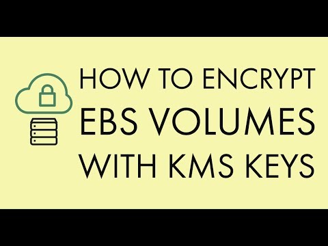 How to Encrypt your EBS Volume during creation with KMS keys