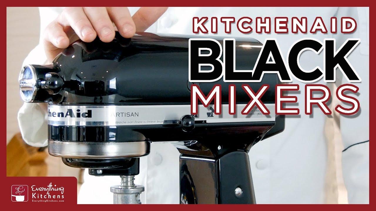 Kitchenaid Black Mixer Color Comparison Onyx Caviar Matte Imperial Cast Iron