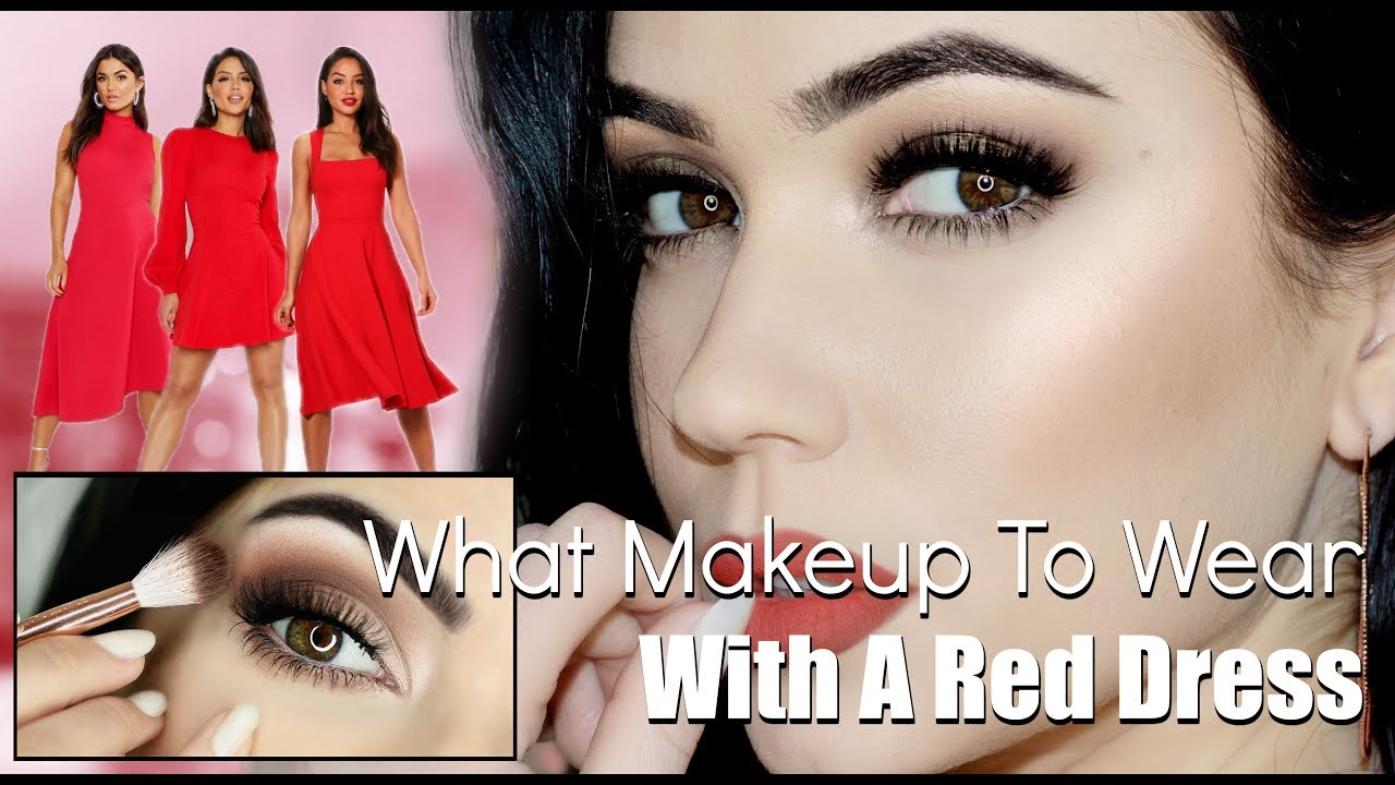 Makeup for a Red Dress  Cool Warm Neutral Red  TheMakeupChair