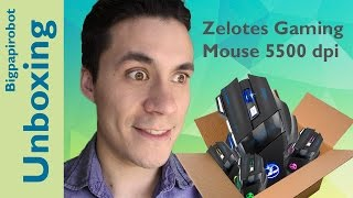 Zelotes Mouse Gaming 5500 dpi / Unboxing Español /