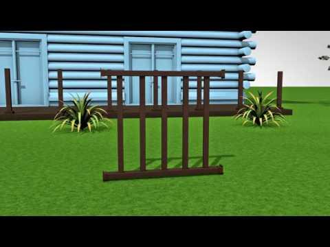 ограждение для террасы из декинга , косая решётка - YouTube