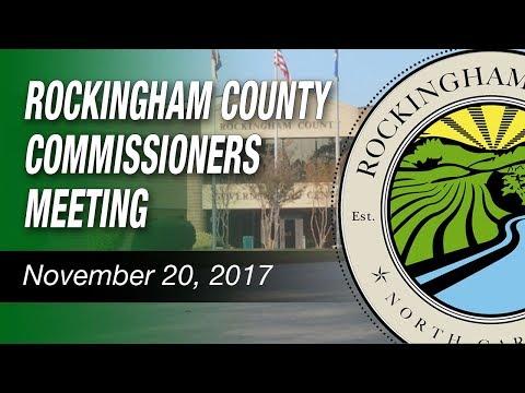 November 20, 2017 Rockingham County Commissioners