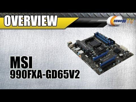 Newegg TV: MSI 990FXA-GD65V2 AM3+ AMD 990FX ATX Motherboard Overview
