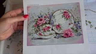 """49. """"Трио и цветы"""": отчёт № 1 / Вышивка крестиком"""