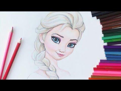 Как нарисовать эльзу из холодного сердца поэтапно карандашом для начинающих