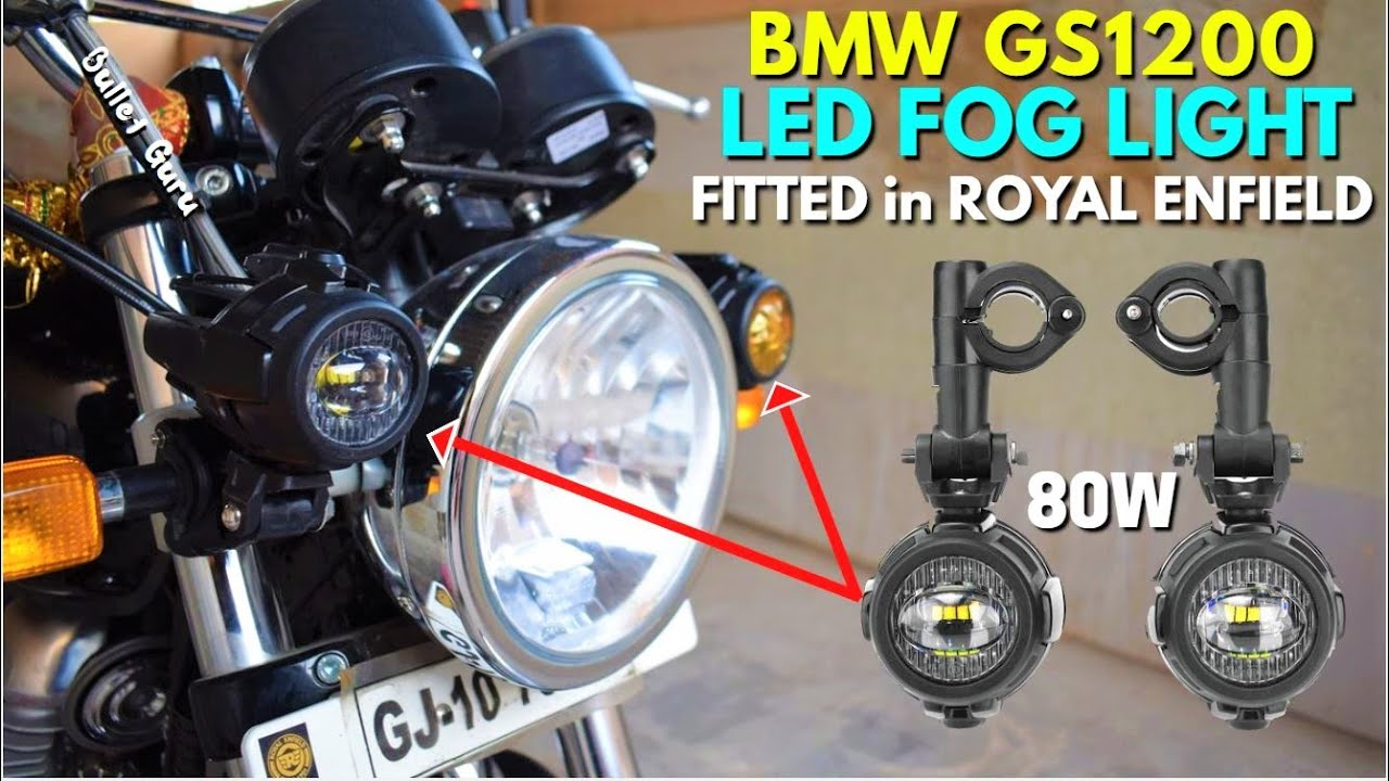 Bmw Gs1200 Led Auxiliary Fog Light Fitted  Installed In