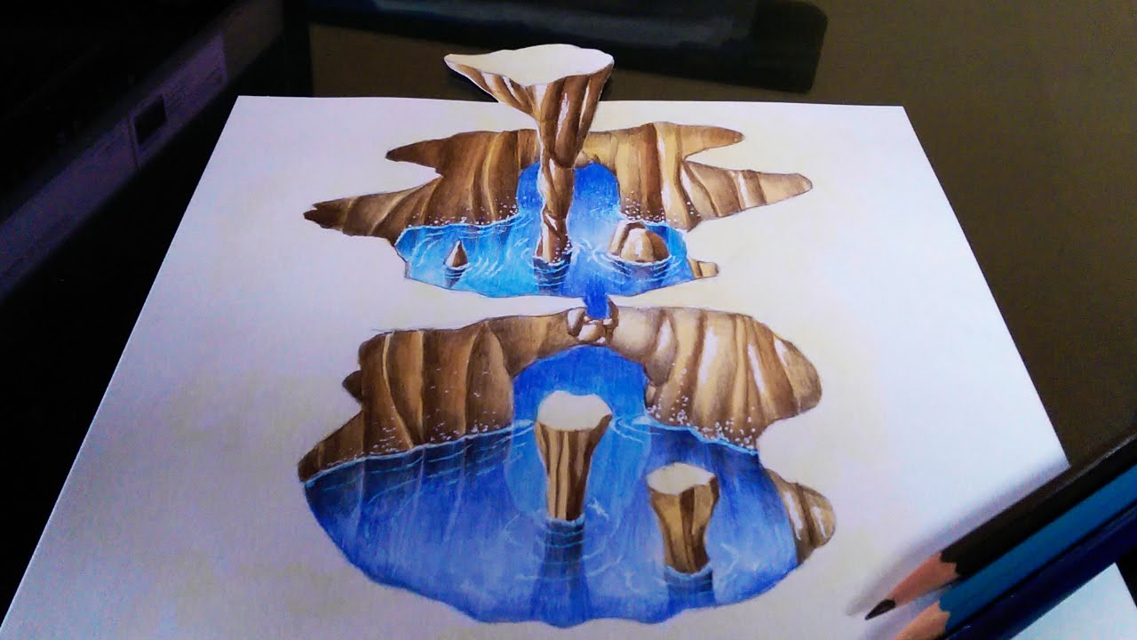 D Monkey Luffy How to Draw a 3D Caver...