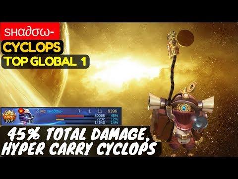 45% Total Damage, Hyper Carry Cyclops [Top Global 1 Cyclops] | ѕнα∂σω- Cyclops  Mobile Legends |