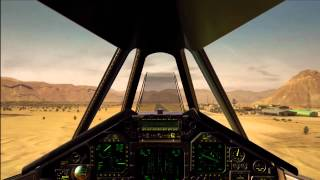 rare footage landing f-117 nighthawk cockpit view Desert Base