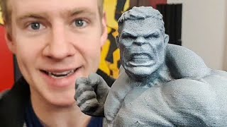 Painting my HULK 3D PRINTS!!