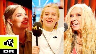 Matilde/Alberte fra Klassen får kys af Sanne Salomonsen | Bagom LIVE| Ultra