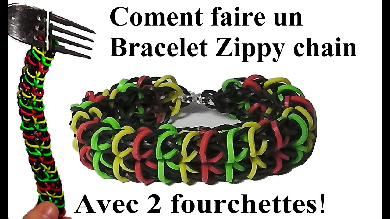 coment faire un bracelet zippy chain avec 2 fourchettes ne pas rainbow loom tutoriel youtube. Black Bedroom Furniture Sets. Home Design Ideas