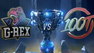 GRX vs 100 | Worlds Group Stage Day 8 |  G-Rex vs 100 Thieves (2018)
