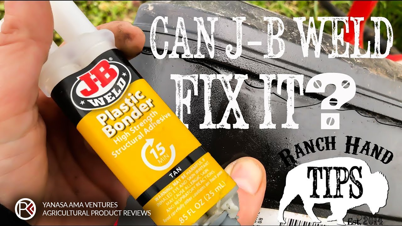 Can Jb Weld Plastic Bonder Fix A Plastic Fuel Tank Pressure Washer Repair Pt 2 Ranch Hand Tips Youtube