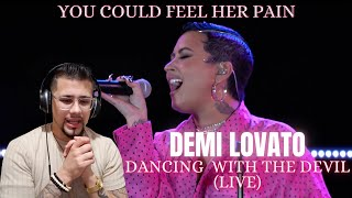 """#demilovato #dancingwiththedevil #demilovatoreaction demi lovato - dancing with the devil reaction """"this was emotional & deep"""" (live)demi anyone rea..."""