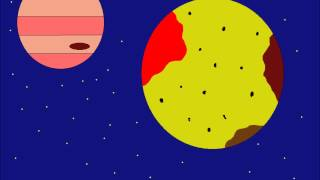 Solar System- Planets, Surfaces, and Moons Animation