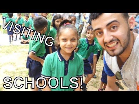 VISITING SCHOOLS IN INDIA!!