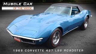 Muscle Car Of The Week Video #41:  1968 Chevrolet Corvette L88 427 Roadster