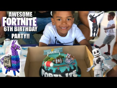 AWESOME FORTNITE BIRTHDAY PARTY!!