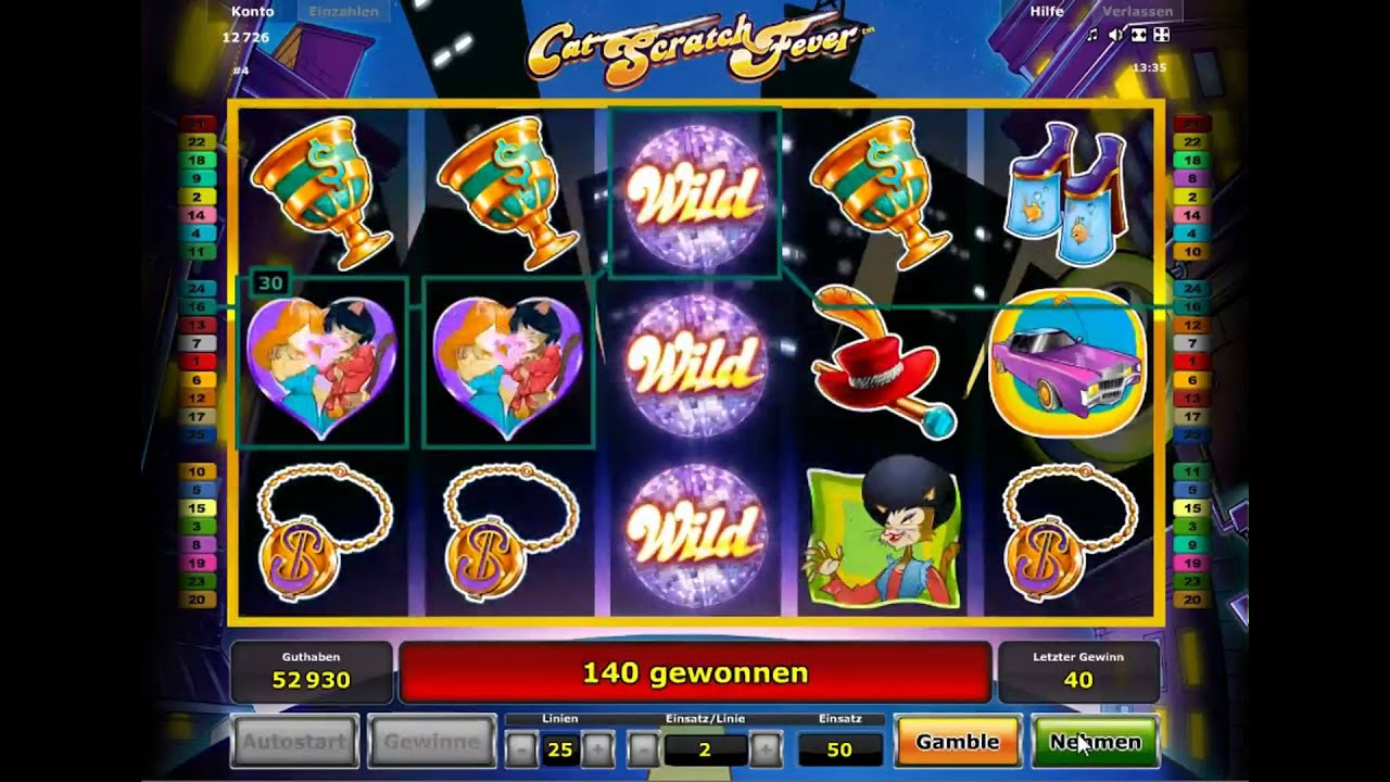 Arena cat scratch fever novomatic slot game live machine purchase