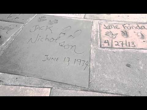 Chinese Theatre handprints Hollywood