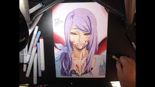 Download Video Drawing Rize Kamishiro Tokyo Ghoul MP3 3GP MP4