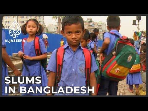 Bangladesh slum children drop out of school for full-time work