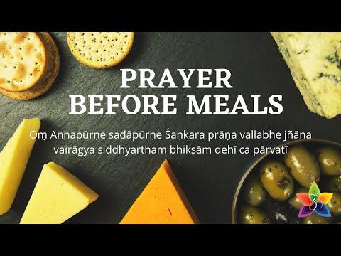 Prayer Before Meals - Annapurne Sadapurne