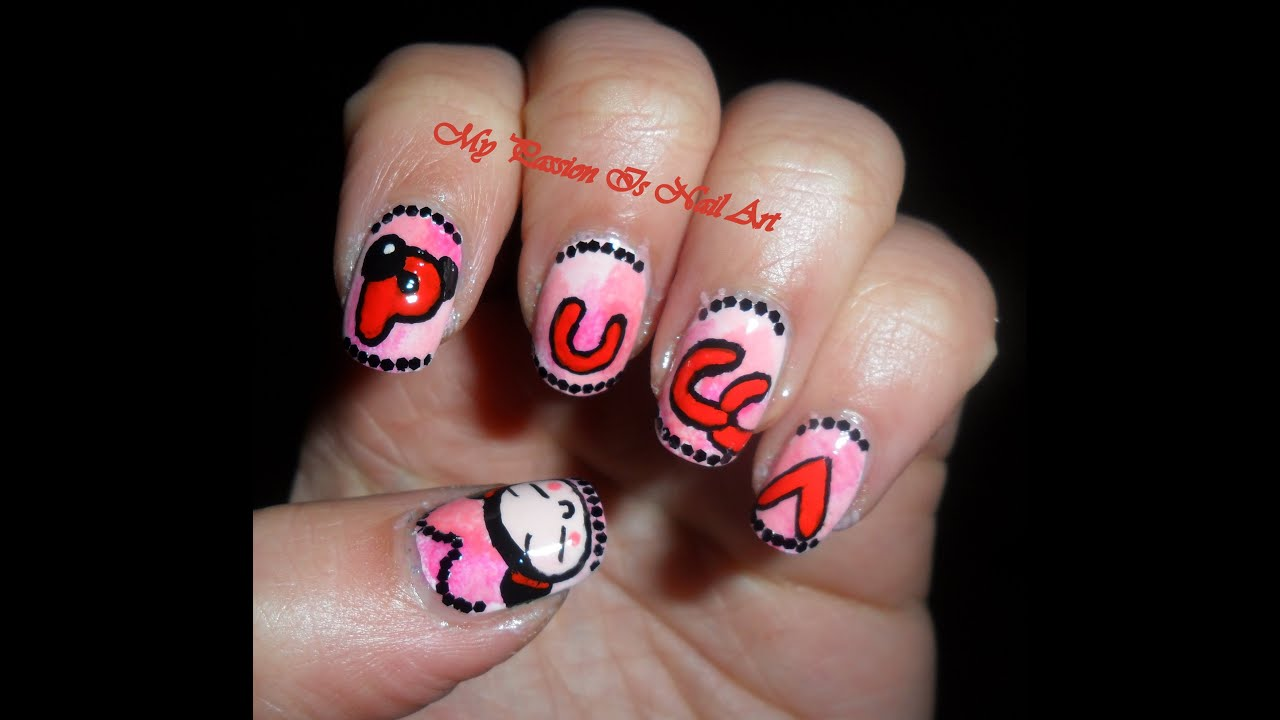 Nail Art On Youtube: Cute Pucca Nail Art Tutorial
