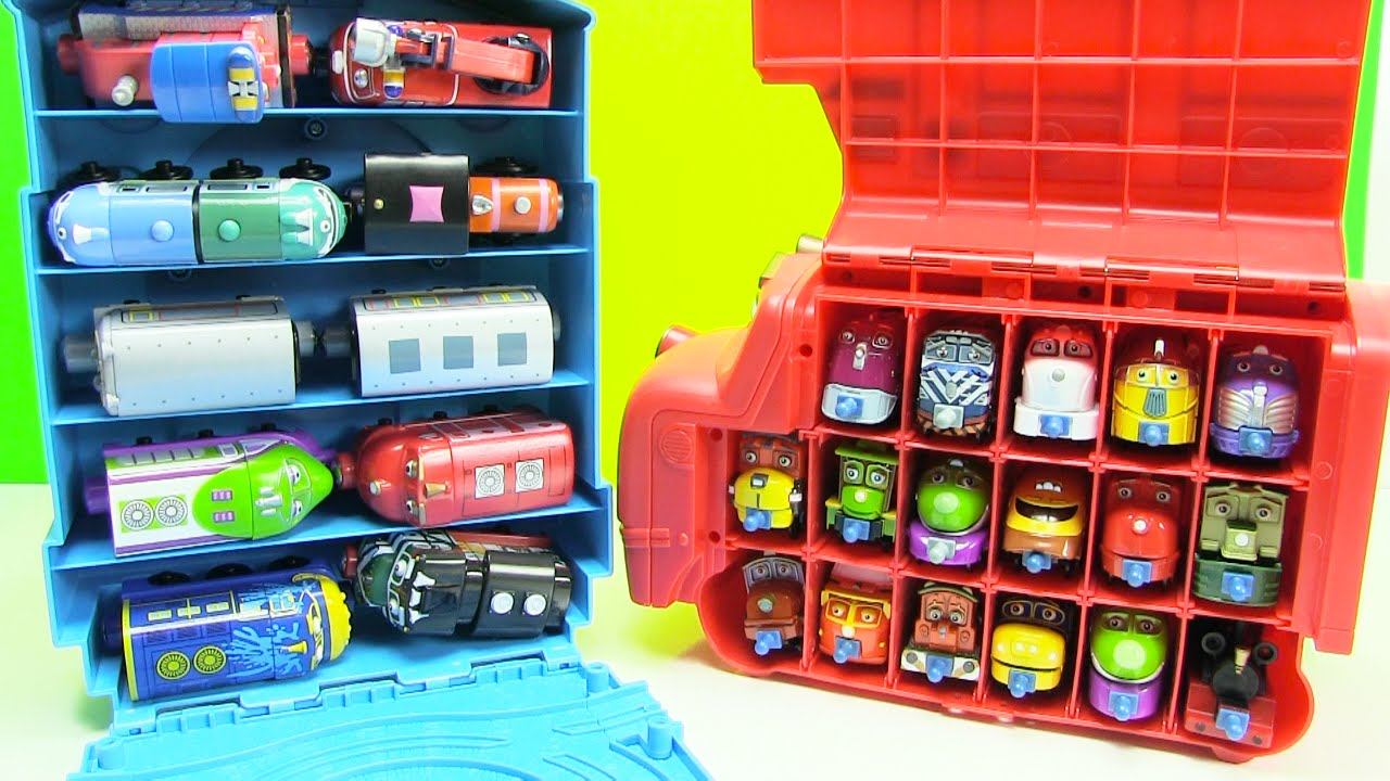 Chuggington Trains Wooden Trains In Thomas Tote A Train Playbox Storage    YouTube