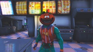 "NEW FORTNITE SKIN! ""TOMATOHEAD + AXERONI"" (Attack On Greasy Grove)"