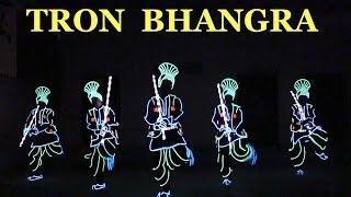 TRON BHANGRA DANCE | SHAPE OF YOU |  ED SHEERAN | BY Skeleton Dance Crew