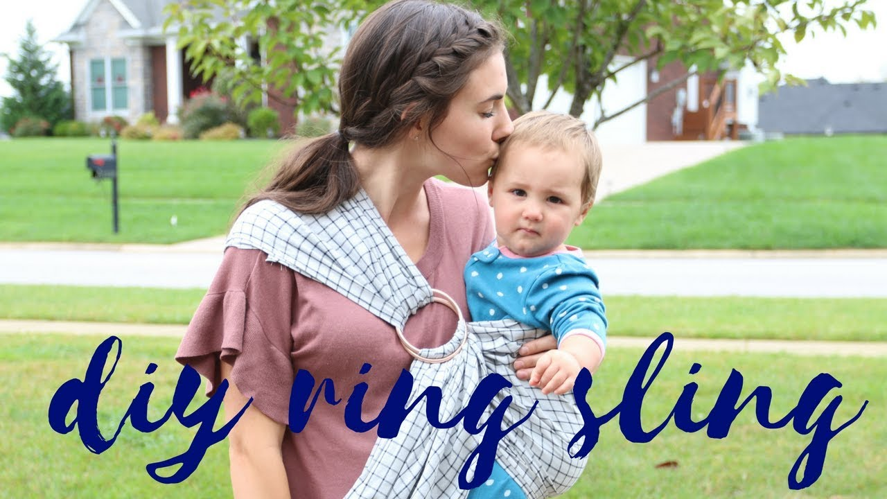 Diy Baby Ring Sling Easy Tutorial Youtube